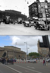 Lime Street, 1950s and 2016 (Keithjones84) Tags: liverpool oldliverpool thenandnow rephotography merseyside limestreet history localhistory architecture