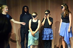 Leonato, Friar, Hero, Margaret, and Beatrice (rachel.roze) Tags: youthshakespeareproject muchadoaboutnothing play hanover august2016 masks rosa beatrice leonato hero costumes elijah