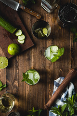 Cucumber & Mint Mojito | Will Cook For Friends (WillCookForFriends) Tags: cucumber mint mojito cocktail food styling photography recipe will cook friends