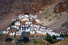 Low Kee (sumehrgwalani) Tags: kee ki spiti india houses monastery mountains colours trees