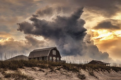 There's a Storm a Brewin'  (Redux) (NYRBlue94) Tags: north carolina beach ocean storm thunderstorm weather severe clouds hdr