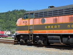 OCSR F7 at the depot in Girabaldi (pchurch92) Tags: garibaldi oregoncoastscenicrailway girabaldi f7 gmd emd