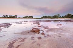 Rapid Creek under purple haze (Louise Denton) Tags: rapidcreek bridge nightcliff casuarina darwin suburbs nt northernterritory australia outback sunset smoke bushfire purple rocks rockpools outdoors nature cloud