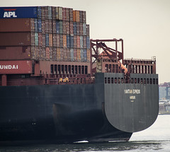 Ship and Crew (PAJ880) Tags: yantian express container ship nyc harbor new york stern crew boxes