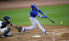 Troy Tulowitzki swings at a pitch in the second inning. (apardavila) Tags: baseball majorleaguebaseball mlb sports torontobluejays troytulowitzki yankeestadium