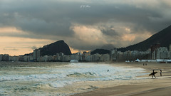 Sunset | Copacabana Beach (Jos Eduardo Nucci) Tags: marvelouscity copacabana beach beautiful landscape cloudscape nikon nucci d800 28300mm storm olympics 2016 riodejaneiro paradise atmosphere stunning sky world photography tour getty stock images flickr surfer serenity happy mountains corcovado sugarloaf christtheredeemer joseduardonucci photo outdoor instagram colors gray dark yellow leme arpoador reflection sand paisagem natureza praias explore beauty love cariocas people brazilian fantastic environment water waves cityscape planet landmark sunlight sunshine ocean tide ipanemabeach