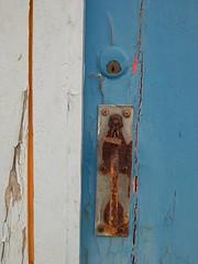 St. Margaret's Bay - Kent (jcbkk1956) Tags: door wood latch lock paint flakey flaking peeling stmargaretsbay kent nikon coolpix4300