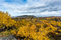 Dimmuborgir and Hverfjall (Einar Schioth) Tags: autumm autummcolors mountains mountain myvatnssveit trees tree sky sunshine sun canon clouds cloud day dimmuborgir hverfjall nationalgeographic ngc nature landscape photo picture outdoor iceland sland einarschioth