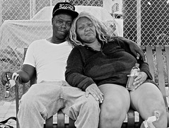 East Austin portrait: Jerome and Shalesia (wheeler_camille) Tags: street photography photographer blackandwhite black white portrait portraiture eastaustin tx austin