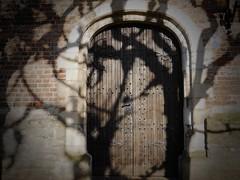 SUNday. (Warmoezenier) Tags: sunday dimanche domingo zondag church kerk kloeitnge zuidbeveland netherlands deur door schaduw boom tree iglesia puerta arbol