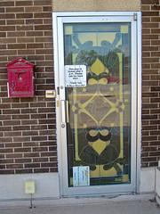 El Mecca Club, Waterloo, IA (Robby Virus) Tags: waterloo iowa el mecca shrine shriners club lodge building temple fraternal door window front facade