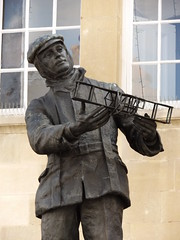 Charles Rolls Statue, Monmouth, Monmouthshire, 22 September 2016 (AndrewDixon2812) Tags: rolls statue biplane sculpture monmouth town hall monmouthshire trefynwy wye wales shire agincourt square