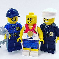 Mo Farah and the police prank. Have you heard about it? #lego (mattosborne325) Tags: police minifigs minifig minifigures minifigure running mofarah lego
