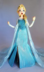 Here I stand in the light of day (ozthegreatandpowerful) Tags: medicom real action heroes rah elsa frozen anna figure custom dress ooak beaded glitter doll dolls collection