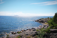 (Sameli) Tags: view landscape sea water summer blue nature cliff cliffs old abandoned military base ue urban exploration history wwi ww1 world war fort fortification fortifications kuninkaansaari suomi finland