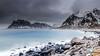 "Lofoten2016-18 (Federico ""Jäger"" Serafini) Tags: norvegia lofoten ghiaccio rocce rocks norway aurora boreale northern light clouds nuvole sea spiaggia long exposure"