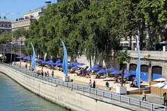 Man Made Beach on the River Seine (Ronto) Tags: princesscruises caribbeanprincess paris france beach riverseine