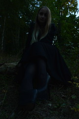 DSC_0427 (saadat1917) Tags: dasha forest tights stockings high heels engels russia gothic goth girl long hair blonde 16 inches 17 platform platforms skirt sexy black dark depressive gloomy death nature satanic ritual nu tree tulle lace