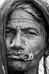 Portraits of India (ravalli1) Tags: india woman rajasthan traditional dailylife jewelry