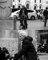 [La Mia Citt][Pedala] (Urca) Tags: 8918 milano italia 2016 bicicletta pedalare ciclicsta ritrattostradale portrait bike bicyclenikondigitale mir biancoenero bn bw blackandwhite
