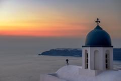 Santorini Sunset (Marshall Ward) Tags: ekklisiatheoskepasti santorini greece imerovigl sunset marshallward mwardphotographycom nikond800 afszoomnikkor2470mmf28ged landscape chruch oia aegeansea 2016