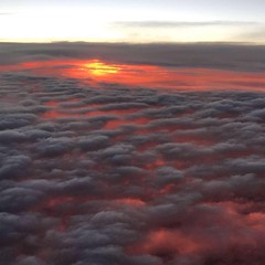 LAVA sunset! Sunset under the clouds. Southwest flight Fort Lauderdale to Providence, RI. #edclusters16 (LauraGilchrist4) Tags: southwestairlines newjersey lava clouds red airplane airplaneview sunsetfromanairplane sunset ifttt instagram
