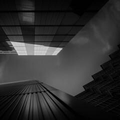 Into the light. (fjnige) Tags: london architecture buildings monochrome blackandwhite nikon d7100 sigma sky