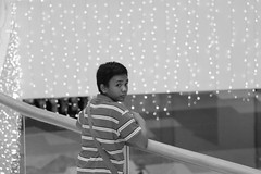 Filipino in front of christmas lights (kylefrederiksen) Tags: christmas lights street pinoy native mall city cool cebu