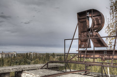 'Pripyat - R is for Rooftopping' (Timster1973 - thanks for the 6 million views!) Tags: city roof colour rooftop canon decay nuclear ukraine r disaster derelict dereliction chernobyl urbex pripyat prypyat nucleardisaster rooftopping livesfrozenintime citystoodstill