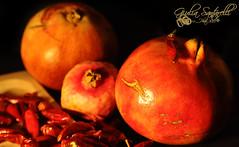 Autunno Caldo. (Giulia Santarelli) Tags: life autumn hot fruit still nikon tamron autunno peperoncini d90 2875 melograni