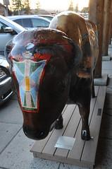 (julianna6234) Tags: art statue painting yellowstone bison westyellowstone