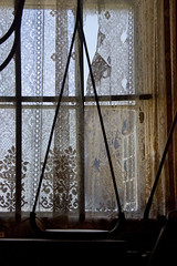 Lace View (lefeber) Tags: california abandoned window museum backlight mine lace decay interior curtain angles roadtrip worn ghosttown torn plus weathered bodie ruraldecay