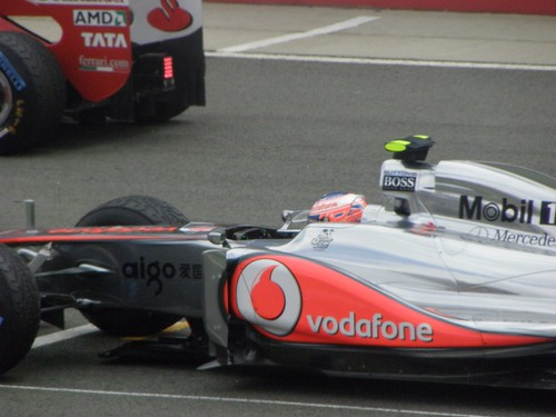 Jenson Button on the grid in his McLaren at the 2011 British Grand Prix at Silverstone