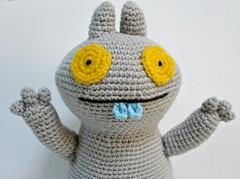 Crochet Uglydoll Babo (Melbangel acct #2) Tags: monster toy doll crochet plush plushie uglydoll amigurumi babo lightgrey acrylicyarn