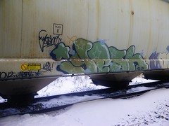 Yesh (Grimey ♕ Trains™) Tags: canada train graffiti burner bomb hopper freight yesh