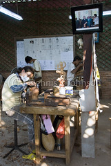 Workshop, Artists de Angkor (dkjphoto) Tags: wood travel school sculpture art statue stone training garden student asia cambodia southeastasia artist khmer traditional silk culture angkorwat carving adventure exotic orient siemreap angkor artisan kampuchea artisansdangkor dennisjohnson