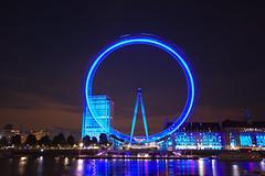 london eye (FiPremo) Tags: england london night europa europe azzurro londra occhio notte inghilterra
