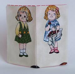 Dolly dingles two girls handmade card holder (sharlenejm) Tags: wallet australia brisbane paperdoll cardholder madeit dollydingle recyclecraft brisstyle recycleshirt sharlzndollz sharlenejonesmartin recyclesewing