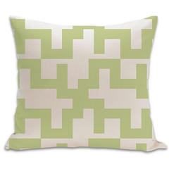 Maze Organic Pillow in Lime and Natural 18x18 (PURE Inspired Design) Tags: customfurniture organicfabric ecofriendlyfurniture woolrugs