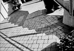 shadow play - 1 (manni39) Tags: film iso100 shadows 28mm schatten ricoh gr1 ombres ricohgr1 rolleiretro ricohlens28mm28