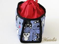 Frasqueira de viagem (Mateli!) Tags: gatos patchwork necessaire frasqueira