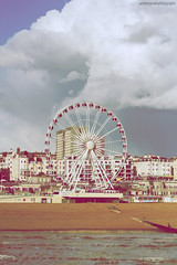 Round and round (Maansal Studios) Tags: eye beach wheel vintage sussex brighton ferris pebble round falmer maansalstudios maansals