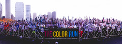 Chicago Color Run (B R A N D) Tags: blue red orange chicago color green sunglasses yellow canon 50mm glasses illinois smoke afro 28mm run powder wig 7d grantpark brand roygbiv 30d mrbluesky openhousechicago ©2012 colorrun krisbrand colorrunchicago kristoferbrand