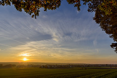 Golden Autumn Sunset (NoNickMan) Tags: autumn sunset nature landscape bayern deutschland sonnenuntergang herbst landschaft mantel nikon2470 nikond800 mygearandme flickrstruereflectionlevel1 rememberthatmomentlevel1