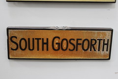 Bury Transport Museum: South Gosforth Sign (emdjt42) Tags: southgosforth stationsign burytransportmuseum