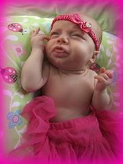 (Gypsysoul_) Tags: portrait naked hannah newborn ladybug editing pinkbow pinktutu pinkframe