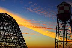 Dawn At Moffet Field (Abel AP) Tags: california sky usa clouds sunrise canon dawn sunnyvale watertower hangar dslr moffettfield sunnyvaleca hangar1 moffetfederalairfield eosrebelt3i abelalcantarphotography