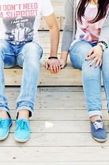 (65) (Strawberry Mood) Tags: park autumn light boy sunlight feet boyfriend nature girl smile youth outside holding hands kiss girlfriend couple mood walk young happiness happycouple holdinghands youngcouple relationships freshness feelings strawberrymood