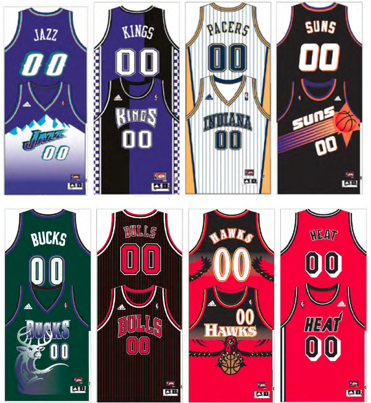 2012-2013 Throwback Uniforms (including Awesome 90s Suns
