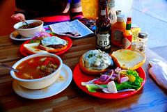 Nick's Crossroads--Buffalo Burgers & Soup (richardzx) Tags: soup albuquerque rt66 buffaloburger greenchile richardzx greenchilecheeseburger route66rootbeer nickscrossroadscafe